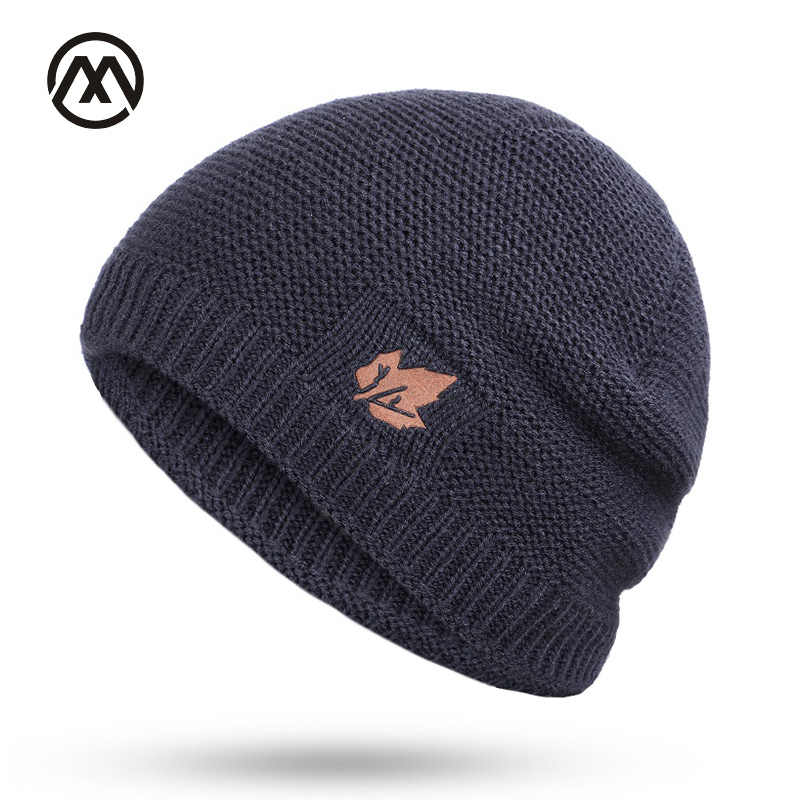 a70885e7f88 New winter knit hats men s and women s outdoor warm thickening plus velvet  loose winter caps Skullies