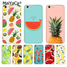 MaiYaCa Verão frutas abacaxi melancia de banana lemon Caso de Telefone Legal para iphone 11 pro 8 7 66S Plus X 10 5S SE XR XS XS MAX(China)