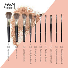 2019 New Hot Makeup Brushes For Powder Foundation Blush 10pcs Cosmetic OutTop Drop Shipping YA213-27