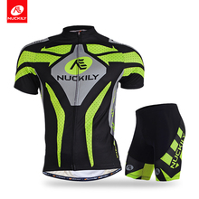 Nuckily cycling jersey and shorts summer quick dry sublimated set for men MA005MB005