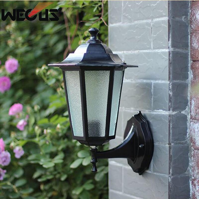 Europe Outdoor Wall Sconce Garden Villa Street Wall Light Fence Outside Landscape Lamp Restaurant Shop Decoration Lighting