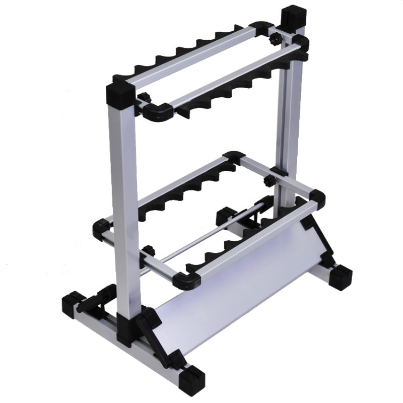 Aluminum Alloy Fishing rod display rack shelf bracket 12pcs stand supporting rod Fishing tackle tool