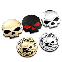 Black/Silver/Gold Fashion 3D Skull Car Sticker Metal Auto Car Moto Motorcycle Decal Sticker Car Styling Stickers