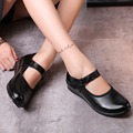 Mary Janes Flats Women Black Leather Hook Loop Flat Soft Dance Shoes New Fashion Party Ladies Girl Casual Dress Zapatos