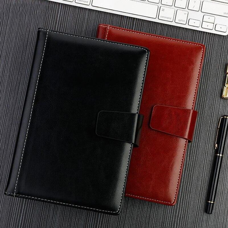 A5 Business Meeting Notepad Planner Organizer Agenda Filofax Men/Women Office Brown/Black Daily Memos Diary Notebook распределительные коробки магазин в ступино