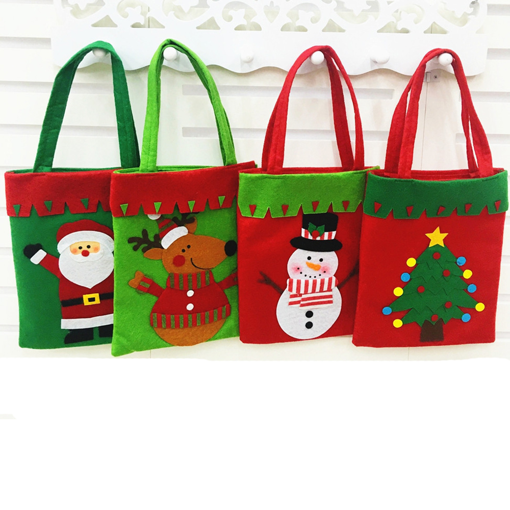 christmas tree santa claus candy handbag home party gift decoration bag christmas supplies - Christmas Tree Bags