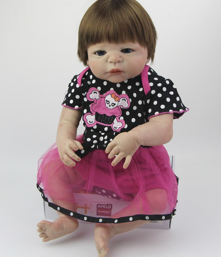 23inch full silicone Newborn baby Doll babies bebe bathe 57cm new design girl for Kids Handmade Princess Bonecas for sale toys23inch full silicone Newborn baby Doll babies bebe bathe 57cm new design girl for Kids Handmade Princess Bonecas for sale toys