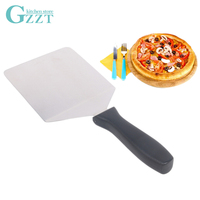 GZZT Pizza Shovel Stainless Steel 19cm/25cm Handle Cheese Cutter Peels Lifter Pizza Tool Cooking Tool Cake Shovel Bakeware