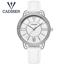2017 CADISEN Brand Hot Fashion Creative Women Watch Simple Luxury Fhinestone Wristwatch Geneva Ladies Quartz Clock Relojes Mujer цена 2017