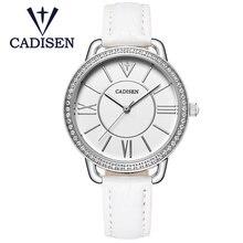 2017 CADISEN Brand Hot Fashion Creative Women Watch Simple Luxury Fhinestone Wristwatch Geneva Ladies Quartz Clock Relojes Mujer