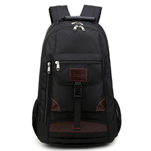 2090 European and American NEW men high school students computer backpack with leather large capacity oxford