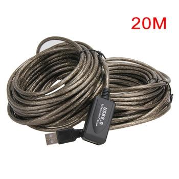 USB 2.0 Cáp Mở Rộng 5 M/10 M/15 M/20 M Repeater Nam để Nữ M /F Được Xây Dựng Trong IC Kép Che Chắn Siêu Tốc Độ Dây Cáp Mở Rộng