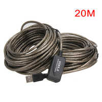 USB 2.0 Extension Cable 5M/10M/15M/20M Repeater Male to Female M/F Built-in IC Dual Shielding Super Speed Extension Cable Cord