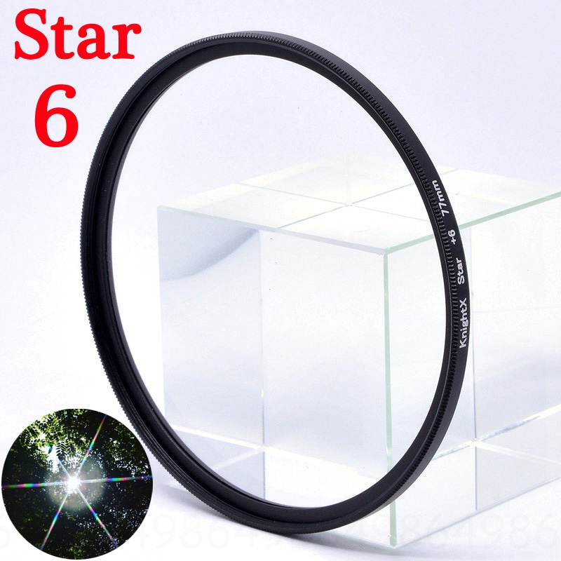 KnightX Star Line 52MM 55MM 58MM 67MM 77MM Camera Lens Filter For canon eos sony nikon 500d 1200d photography 50d set d70 kit in Camera Filters from Consumer Electronics