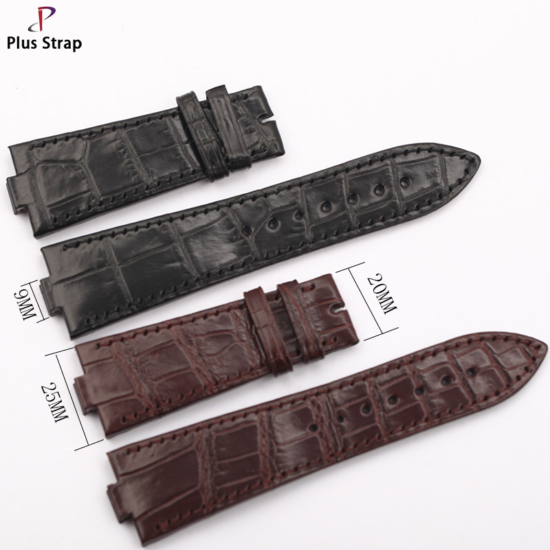 Plus Strap Business Mens Strap Vintage Leather WatchStrap Waterproof Crocodile Hand WatchbandFor 25x9mmPlus Strap Business Mens Strap Vintage Leather WatchStrap Waterproof Crocodile Hand WatchbandFor 25x9mm