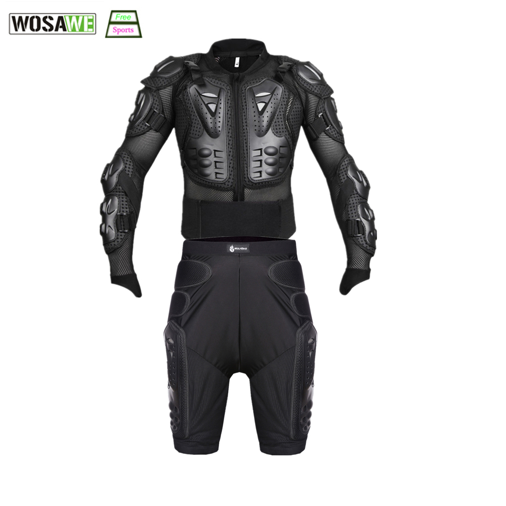 WOSAWE Cycling Jacket Extreme Sports Motorcycle Racing Motocross Full Body Armor Jacket Spine Chest Protective Gear Protector недорго, оригинальная цена