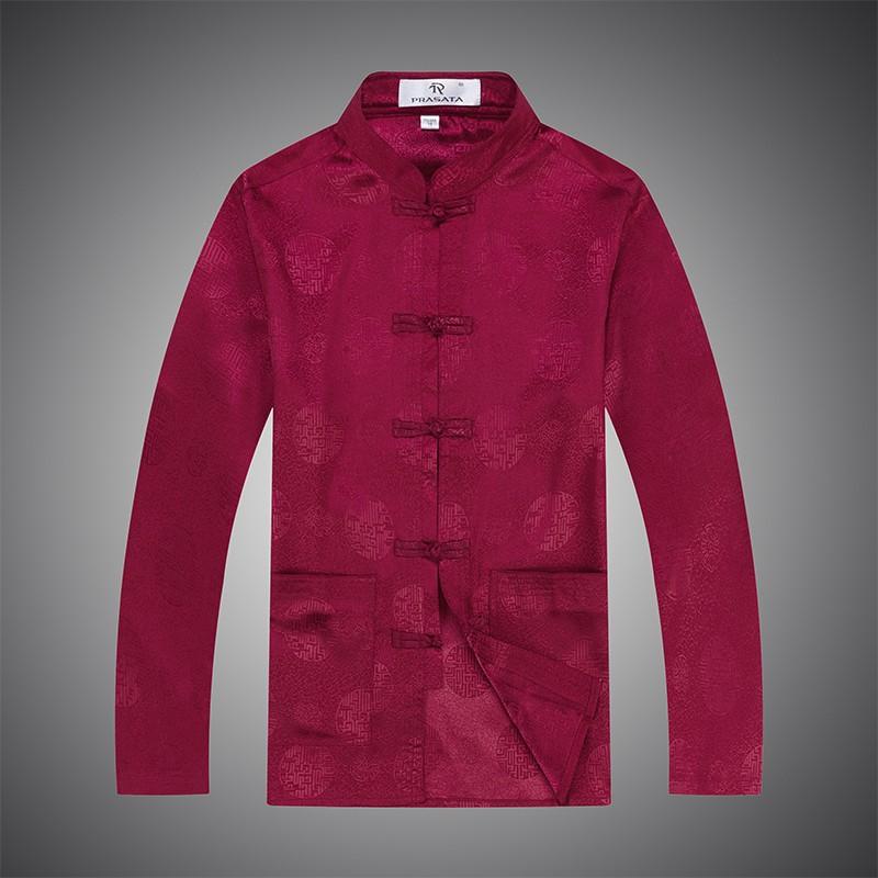 male cotton cheongsam blouse oriental clothes long sleeve cotton cheongsam blouse traditional mens clothes (3)