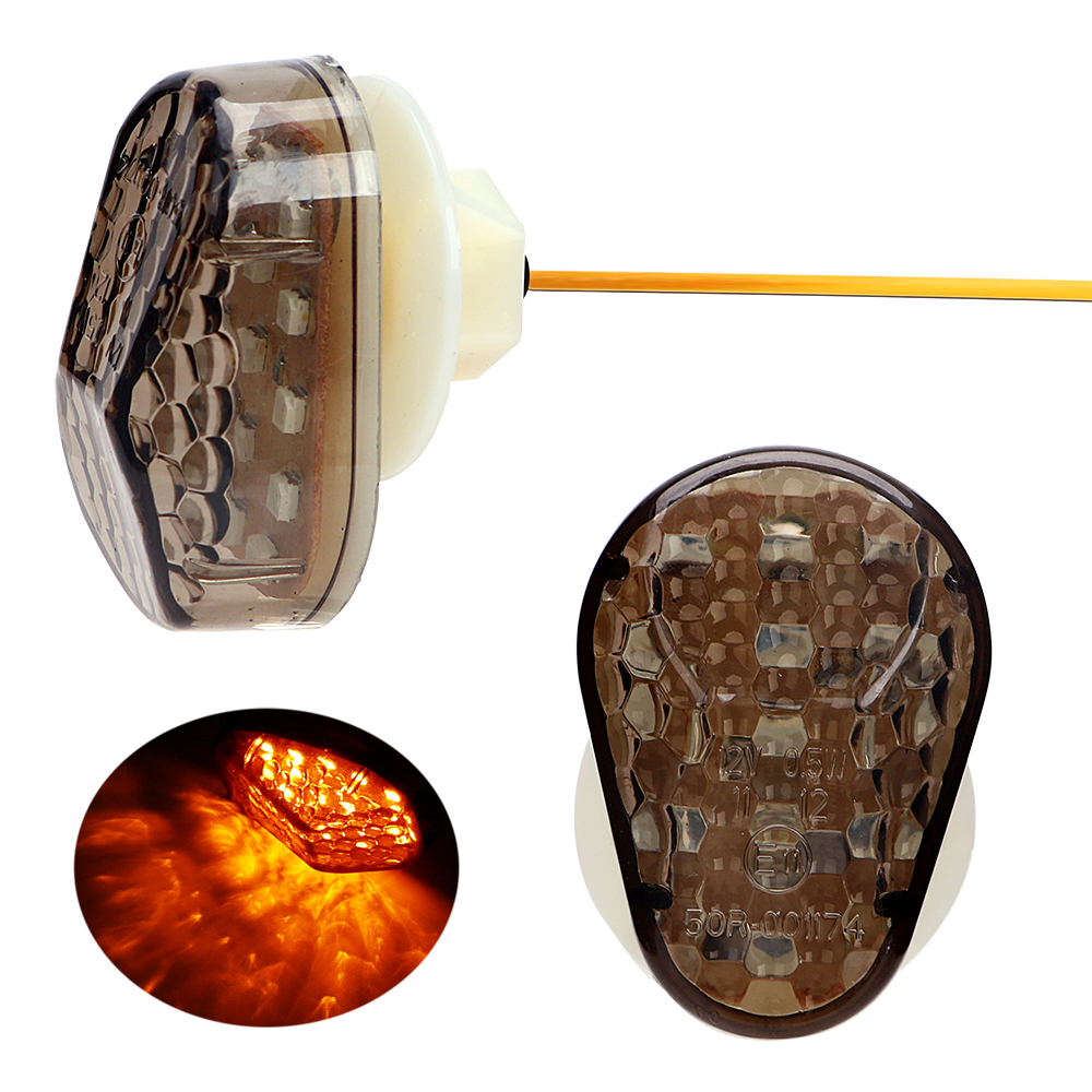 1 Pair Motorcycle Turn Signal Lights For Kawasaki Universal Moto Turn Indicator Lamps Amber Light Scooter Refit Accessories