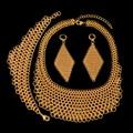 2017 Новый Большой Костюм Ювелирные Наборы Высокого Качества Африканская Дубай Позолоченные Ювелирные Наборы Большой Кулон Для Партии Женщин Старинные стиль