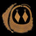 2017 New Big Costume Jewelry Sets High Quality African Dubai Gold Plated Jewelry Sets Big Pendant For Women Party Vintage Style