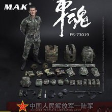 1/6 Full Set 73019 The Chinese People's Liberation Army Soul-Series Army Machine Gunner Solider Action Figure For Collection for collection solider action figure full set 1 6 78047b russian spetsnaz fsb alpha group male figure standard ver