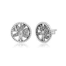 CKK Earring Trees of Life Stud Earrings Sterling Silver Jewelry 100% 925 Women Brincos Oorbellen Pendientes
