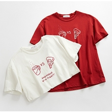 Graphic Tees Women Casual Lady Top Cotton Summer Red Tshirt Female Brand Clothing T Shirt Tee Free Size Funny t shirts