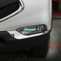 Car styling Front Fog Lamp Frame Modified Head Fog Light Decoration Cover For JAC S3 2014 2015 Accessories Abs Chrome 2pcs/set
