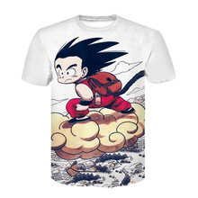 Dragon Ball DBZ Bulma Super Saiyan Vegeta T-Shirt 3D Uomini Donne Anime Kid Goku Goten Gohan T shirt Harajuku Lonzo palla Magliette(China)