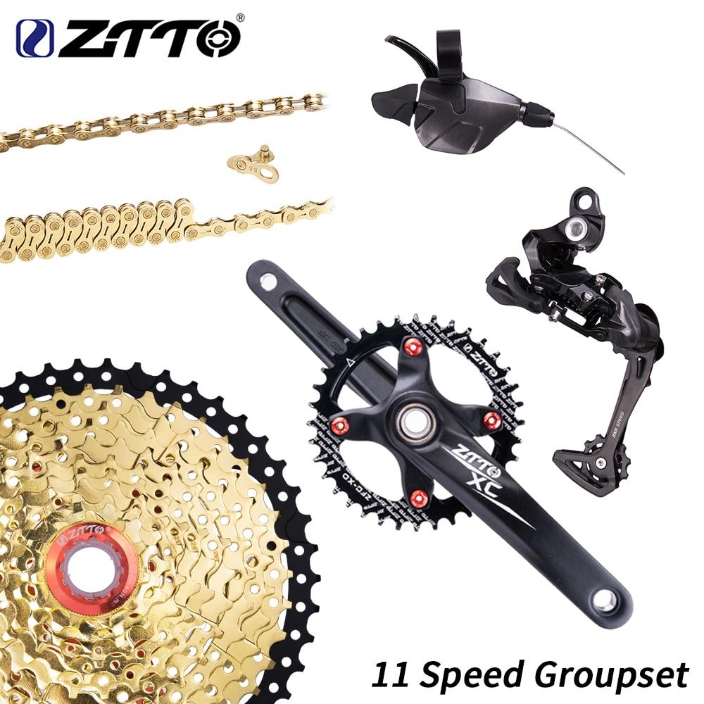 Black ZTTO 1*11 Groupset Black Gold 11 Speed Shifter Rear Derailleur Crankset For Mountain Bike MTB 11speed 46T 11s CassetteBlack ZTTO 1*11 Groupset Black Gold 11 Speed Shifter Rear Derailleur Crankset For Mountain Bike MTB 11speed 46T 11s Cassette