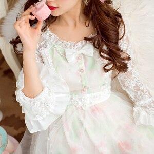 Image 3 - เจ้าหญิงหวาน lolita ชุด Candy rain ฤดูใบไม้ร่วงใหม่หวาน Hollow out พิมพ์เจ้าหญิงชุดลูกไม้ยาวชุด C16CD6146