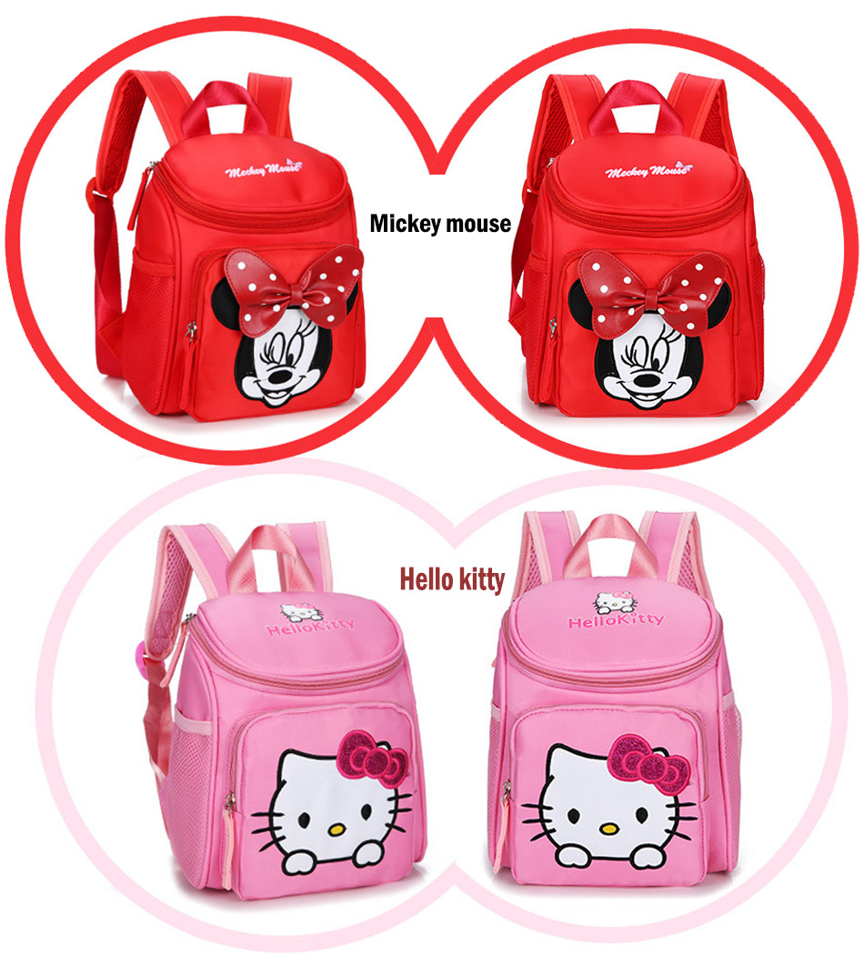 My little pony School bags for Toddler Kids Cute Children Mini Hello Kitty schoolbag Cartoon orthopedic Backpack for boys girls (8)