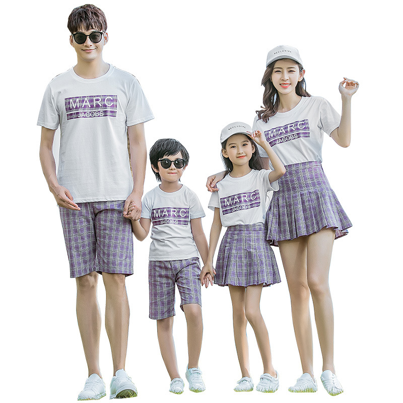 College Style Family Costume Clothing Plaid Striped Mother and Daughter Dress Clothes Mom Baby Girls Tutu Pleated Skirt Man TeeCollege Style Family Costume Clothing Plaid Striped Mother and Daughter Dress Clothes Mom Baby Girls Tutu Pleated Skirt Man Tee