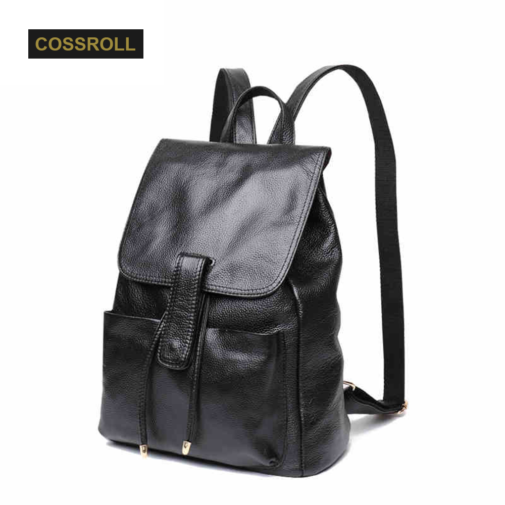 Brand Fashion Women Genuine Leather Backpacks for Girl High Quality Female Shoulder Bags Teenage School Bag New Arrival