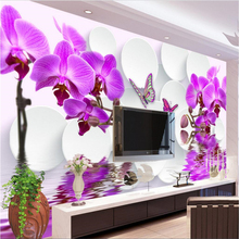 beibehang wall murals wall stickers magnolia flowers 3D TV f
