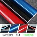 50x152cm DIY 5D Carbon Fiber Vinyl Car Wrap Waterproof Sticker Protector Scratches Resistant Car Accessories Decorative Sticker