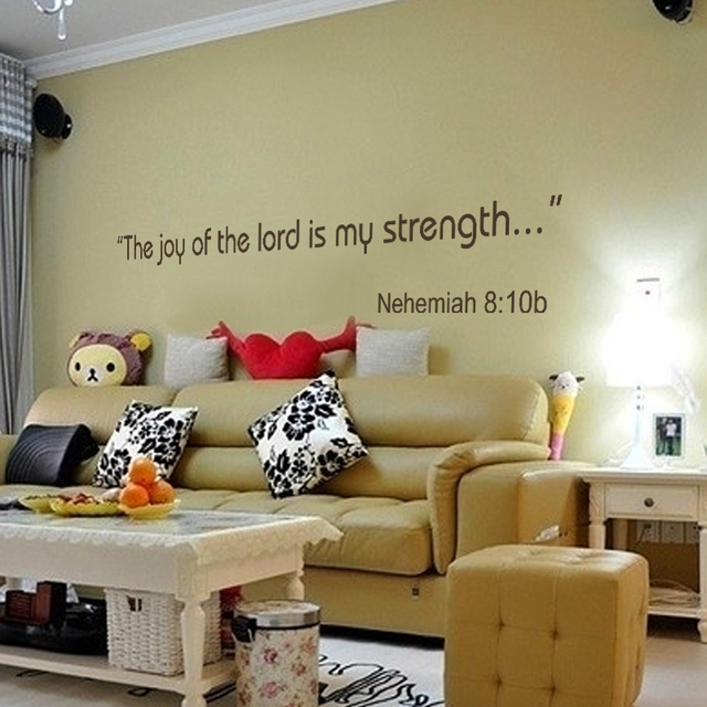 The Joy Of The Lord Is My Strength Nehemiah B Wall Decals - Wall decals quotes bible