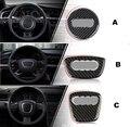 Negro de fibra de Carbono volante decoración decal accesorios interiores del coche para Audi A1 A3 A4 A5 A6 A7 Q7 Q5 Q3
