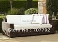 Nuevos modelos de muebles de jardín de ratán Sofá de Mimbre Cuadrados