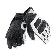 Luvas de couro legítimo 100% evo, luvas originais de couro com 4 tempos para motocicleta condução e corrida gp pro