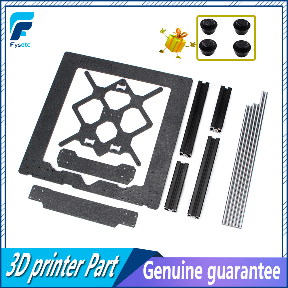 Clone Original Prusa i3 MK3 3D Imprimante Pièces En Aluminium Cadre En Aluminium Profilé Noir Et Tiges Lisses Kit