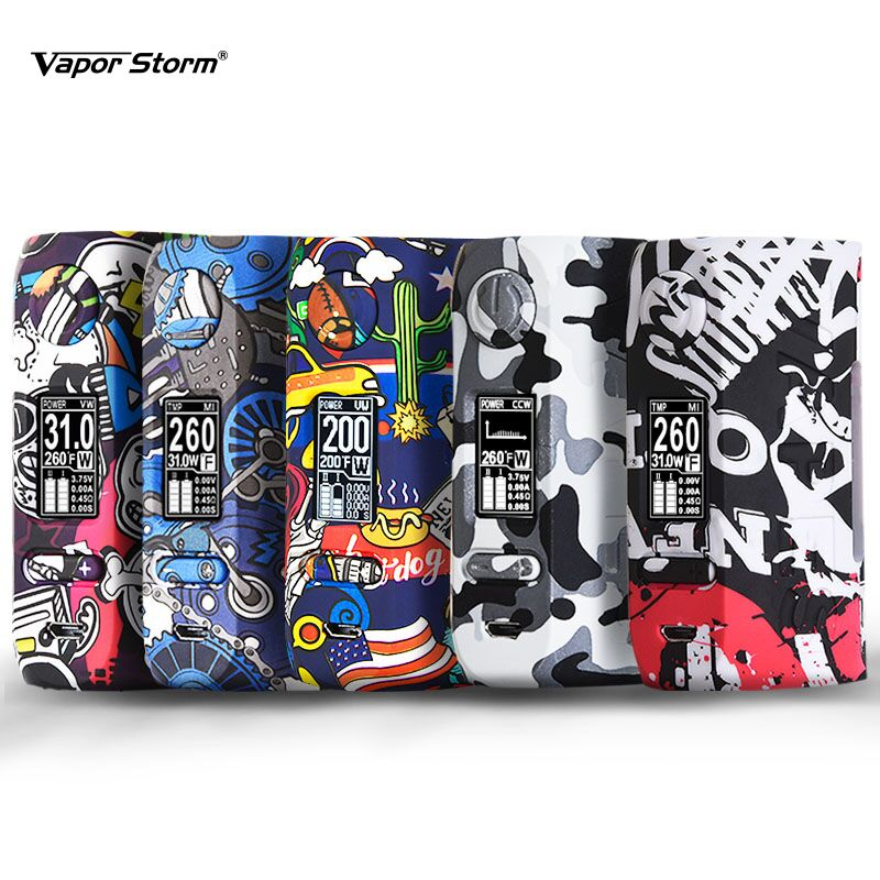 Vapor Storm Storm230 Bypass 200W VW TC Box Mod Vapes Fashion Mod Support Dual 18650 Battery Electronic Cigarette RDA RBA RDTA super bowl ring 2019