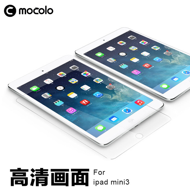 Original mocolo modelo 3d curva de la cubierta completa 9 h 0.33mm para apple ipad air1/2 vidrio templado protector de pantalla para ipad mini 1/2/3/4
