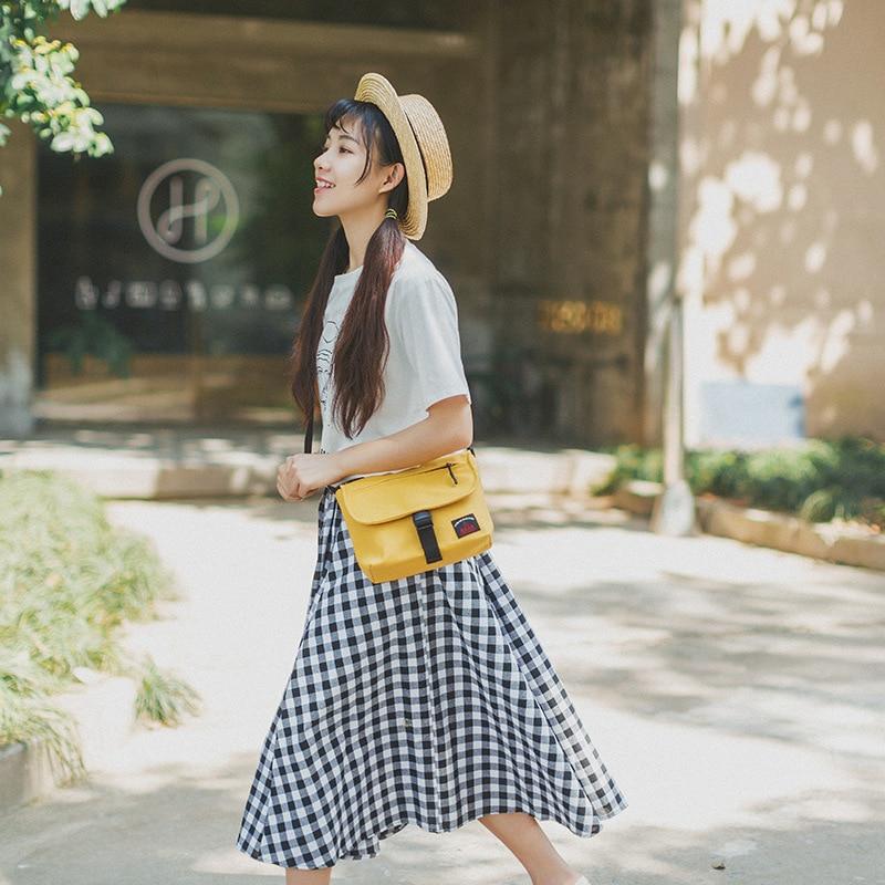 Women's Bag Satchel, Retro Canvas, Single Shoulder Bag, Solid Color Handbag.