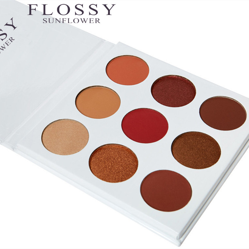 FLOSSY SUNFLOWER Makeup Waterproof Long Duration Eyeshadow Matte Shining 9 Colors BURGUNDY font b Eye b