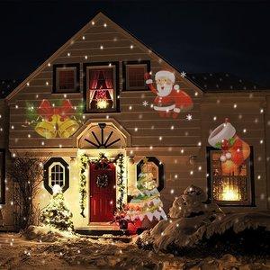 Image 1 - 12 דפוסי חג המולד לייזר מקרן Snowflake LED שלב DJ דיסקו אור מסיבת אורות קישוטים לבית מקורה חיצוני גן