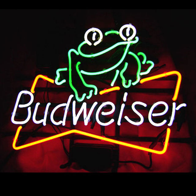 Revolutionary Neon Gifts Budweiser Frog Beer Signs Bar Light Light24 X20