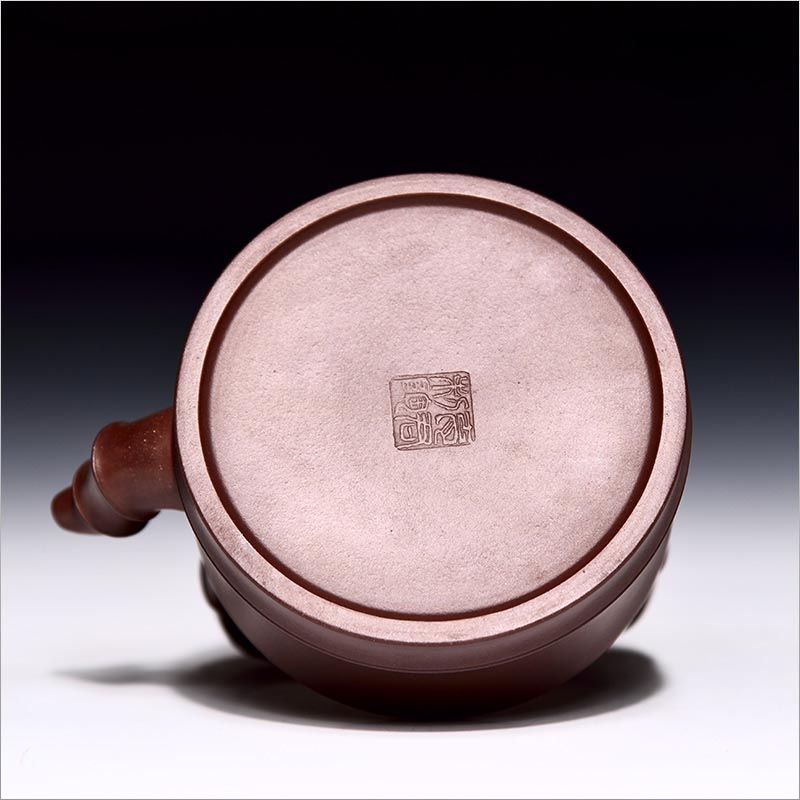 480 ml Pote de Barro Roxo Zisha Yixing Bambu Festival De Elevação do Feixe Bule Xi Shi Bule de Chá Chinês Kung Fu Tea Set 14 Furos de Água Para Fora - 6