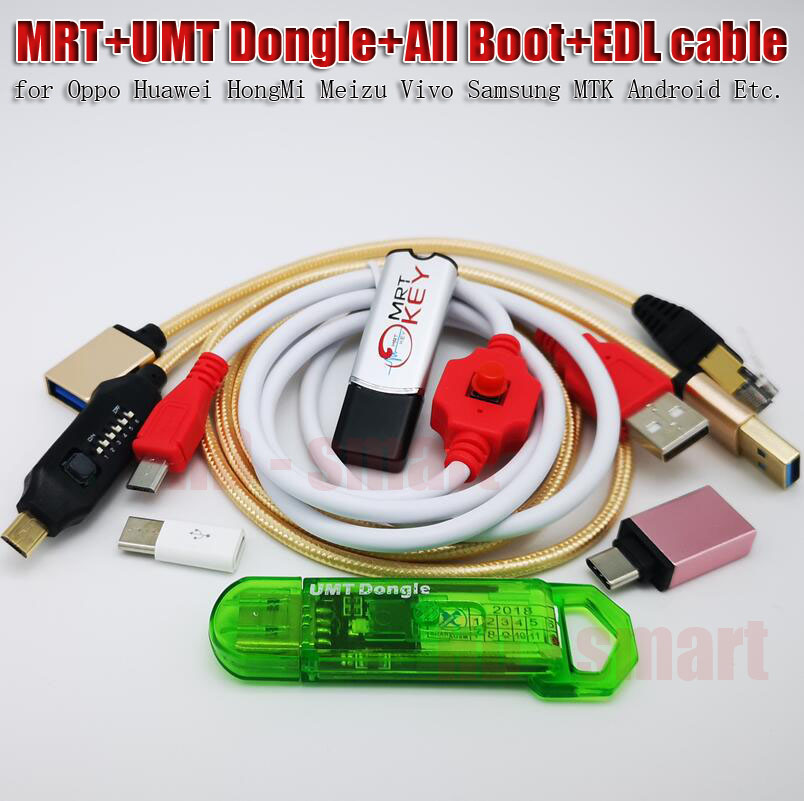 2019 Original MRT Dongle 2 KEY + UMT Dongle + UMF All Boot Cable + XiaoMi9008 BL Unlock Cable
