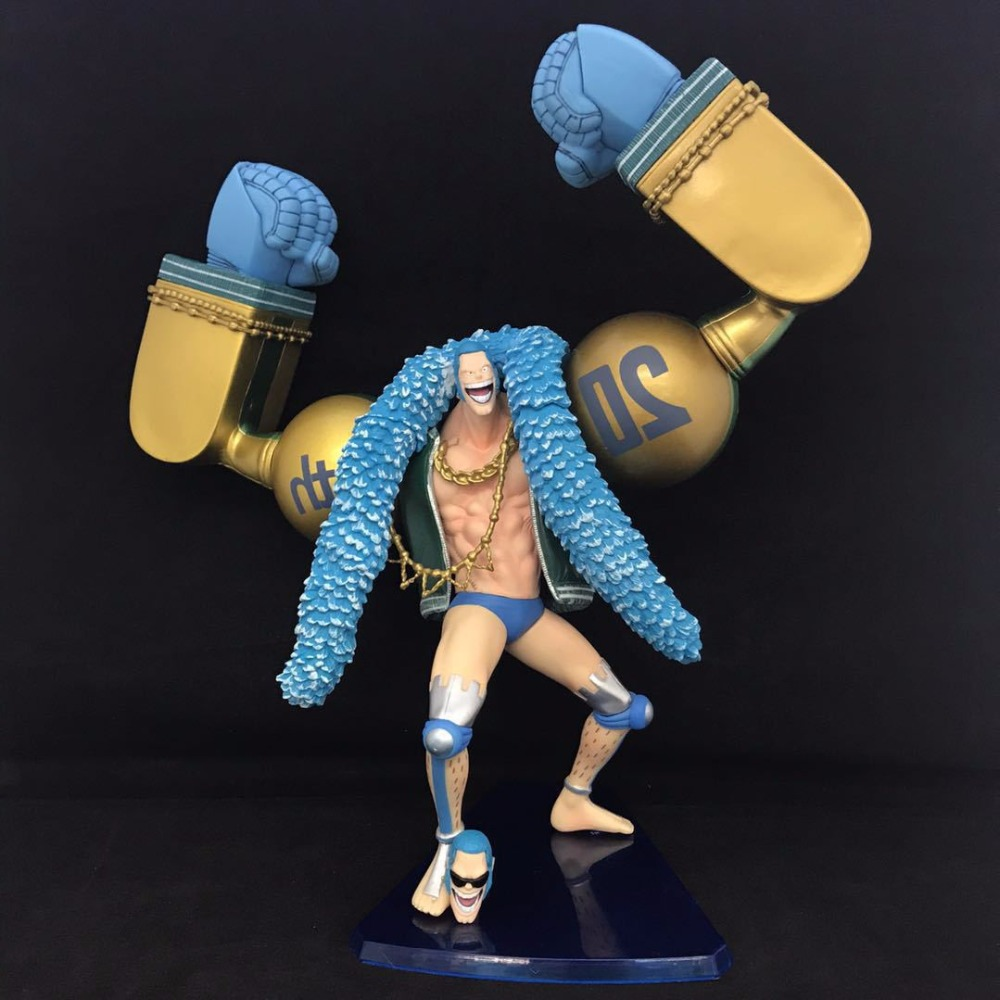 26CM Japanese anime figure classic one piece 20th anniversary FRANKY action figure collectible model toys for boys japanese anime figures 23 cm anime gem naruto hatake kakashi pvc collectible figure toys classic toys for boys free shipping
